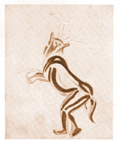 The Sorcerer — c.11000 BC, Painting from Trois Frères Cave, Ariège, France Cave Painting