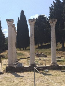 Roman columns at the school of Hippocrates